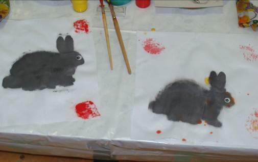Рисование заяц средняя группа