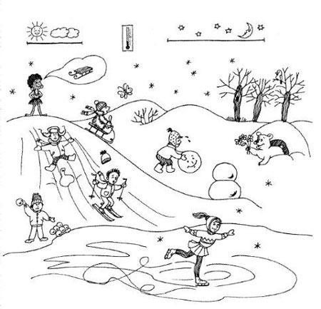 Дидактические игры для старших дошкольников 5-7 лет. Тема: Зима | 433x450