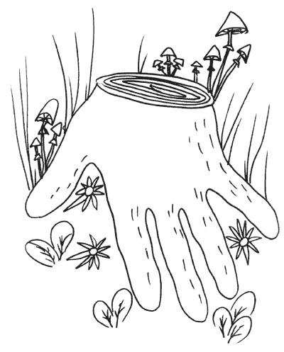 Рисуем ладошками раскраски