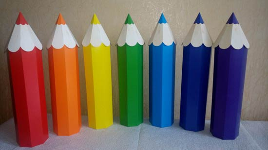 Как сделать объемный карандаш из картона своими руками 32