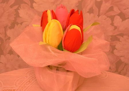 тюльпаны из салфеток